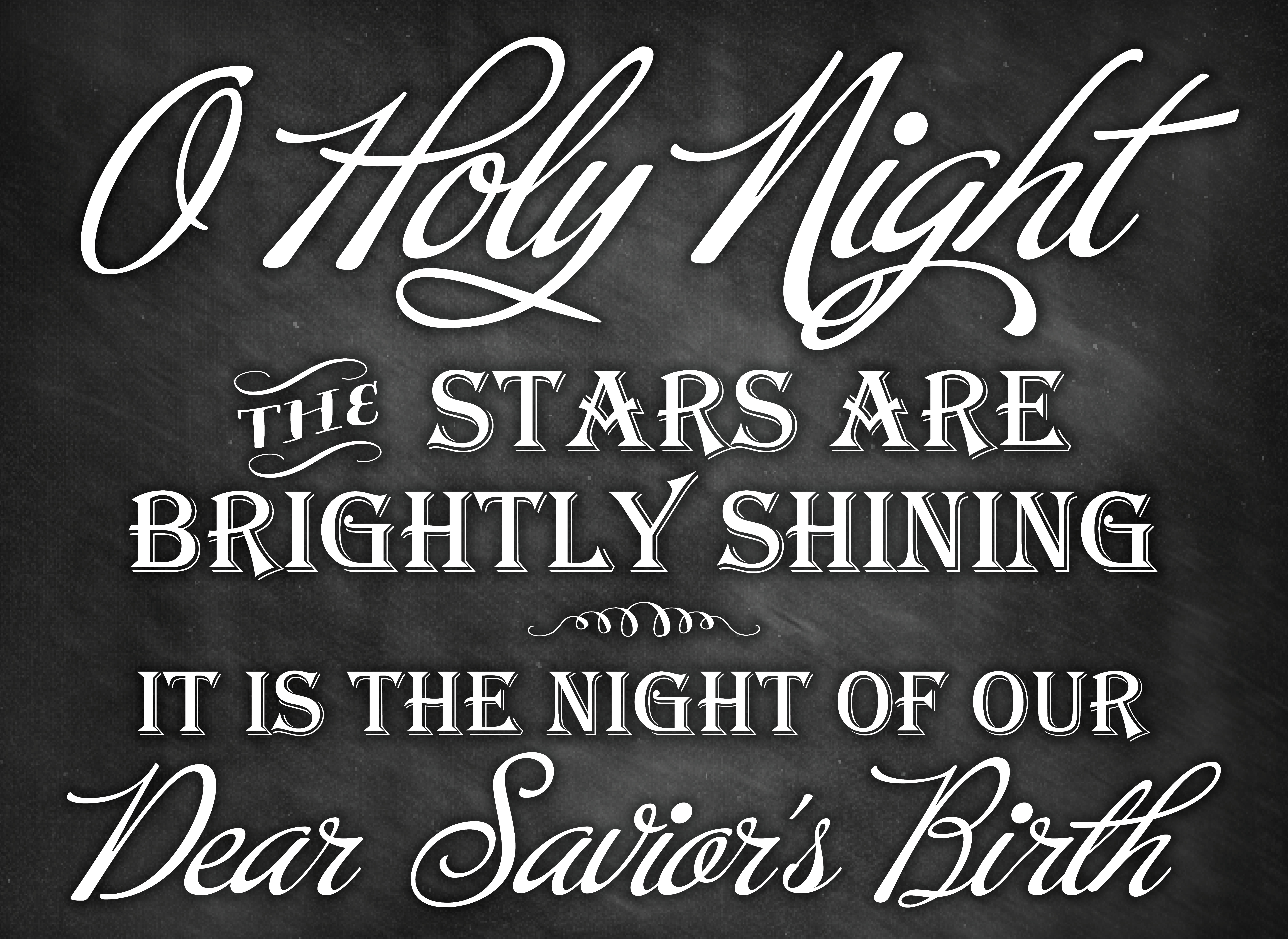 O holy night christmas chalkboard printable the hamby home for O holy night decorations