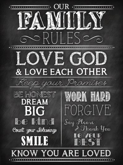 Free Family Rules Chalkboard Printable - The Hamby Home