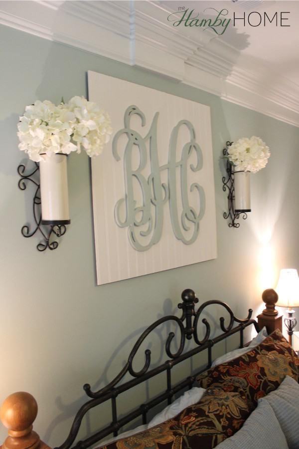 Monogram Wall Decor Diy : Diy beadboard monogram wall art the hamby home