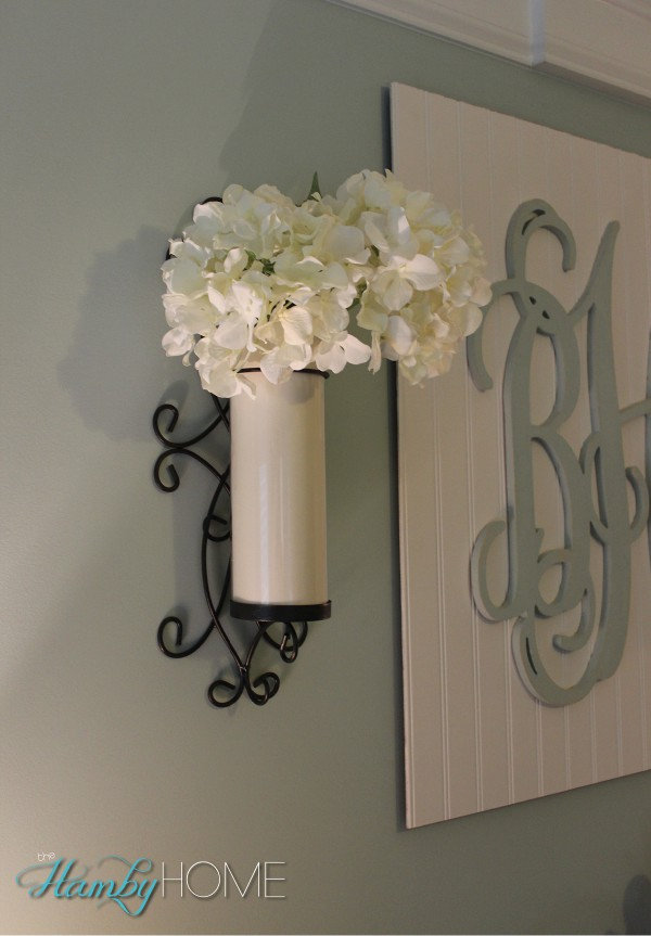 Using Wall Sconces as Vases - The Hamby Home