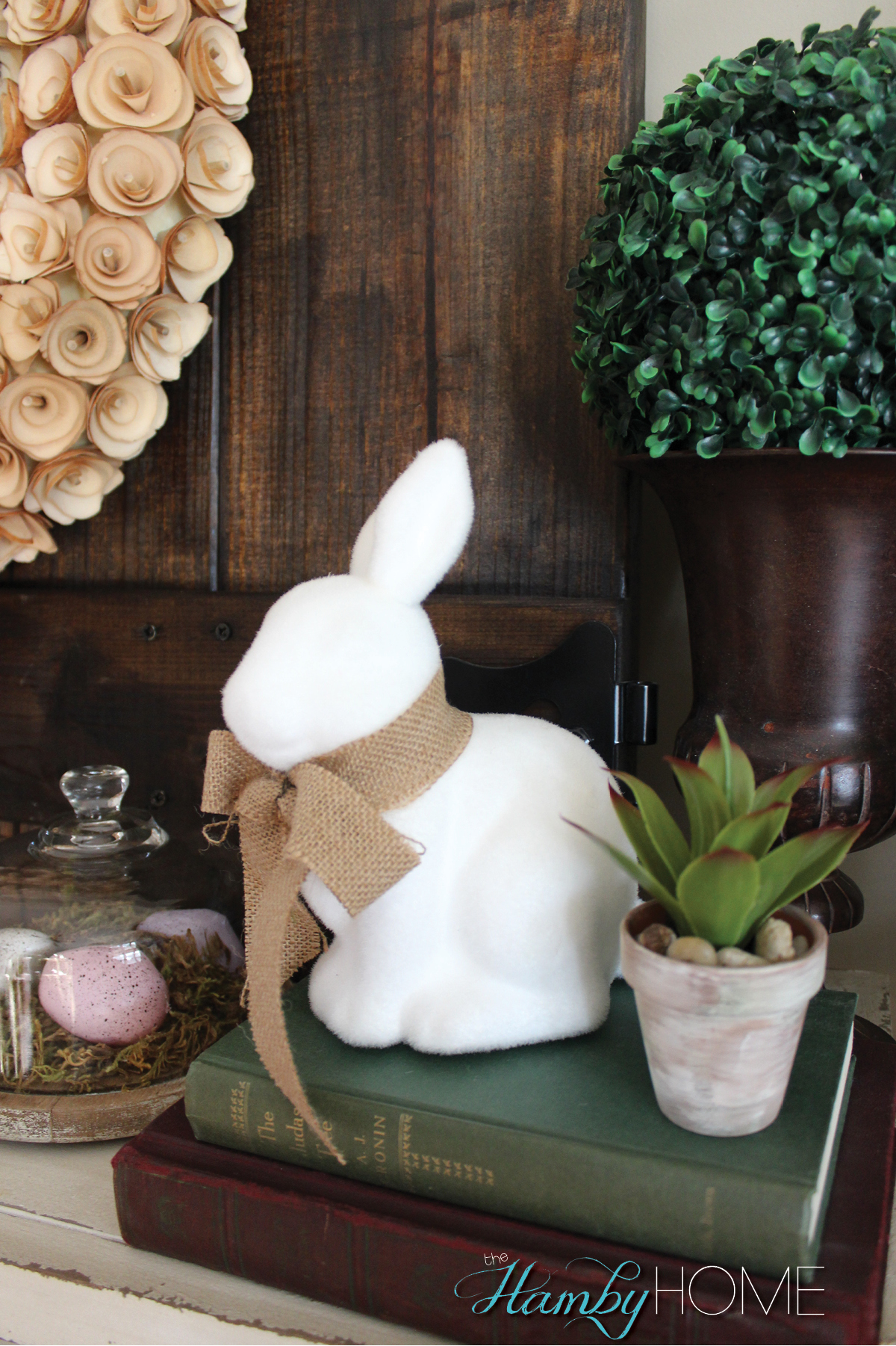 My Budget Friendly Easter Vignette The Hamby Home
