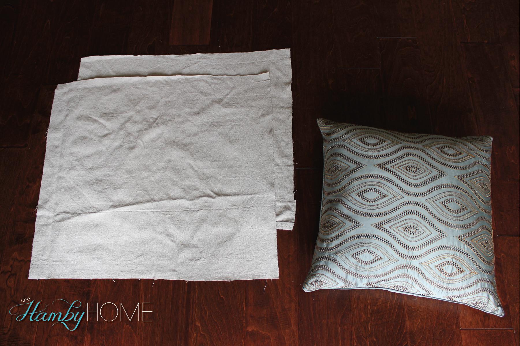 Diy Dropclothlace Pillow Steps