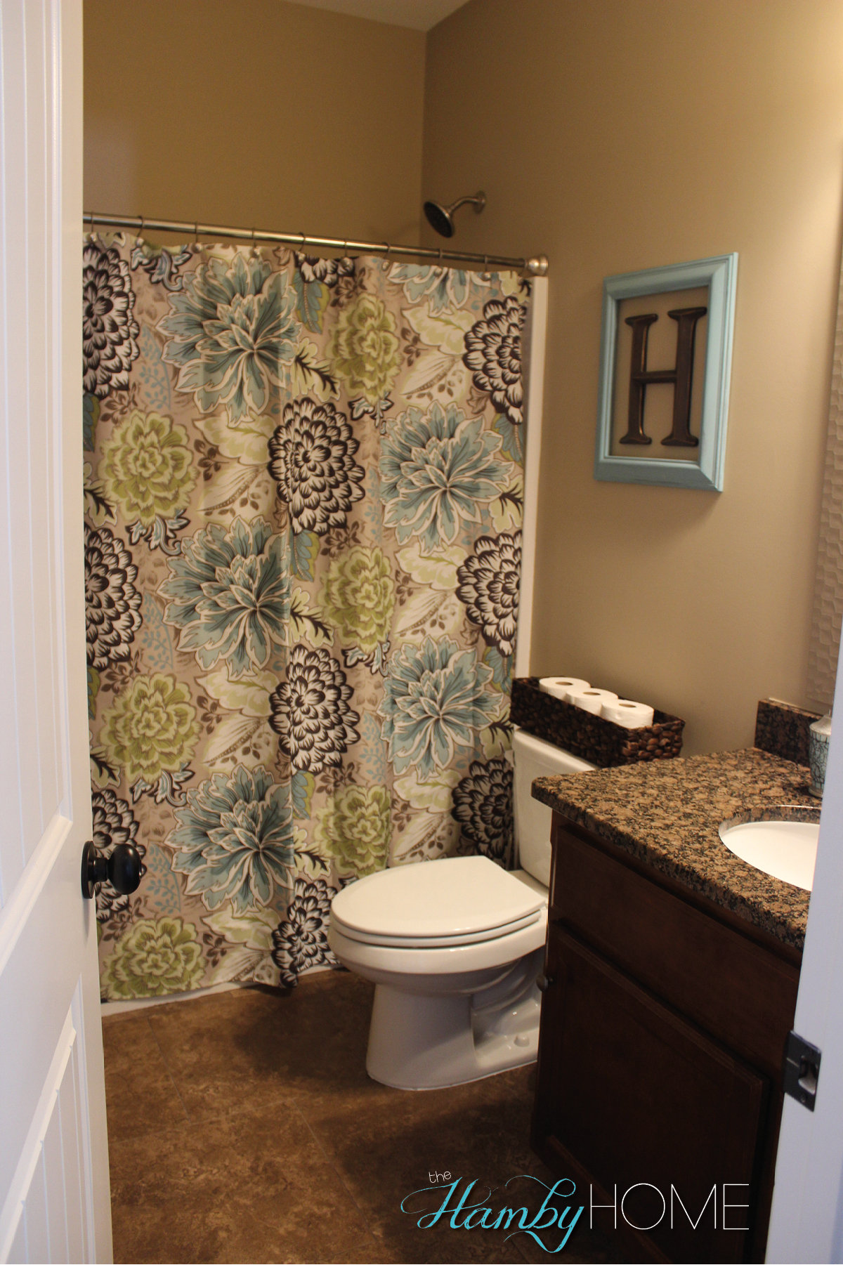 Tgif house tour guest bathroom the hamby home for Home decor interiors bathroom