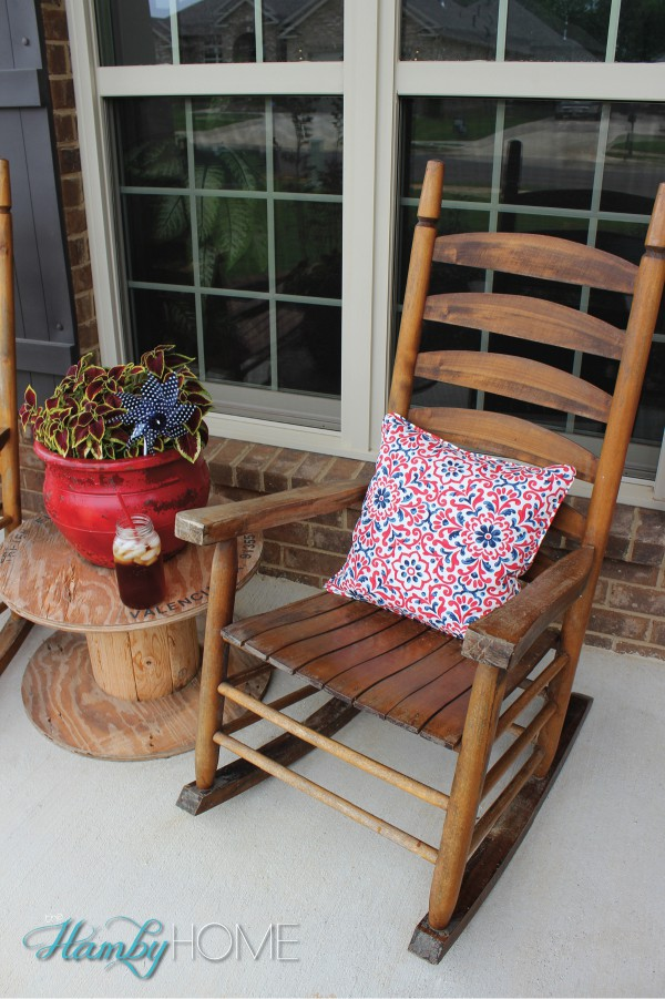 Patriotic porch decor the hamby home for Patriotic decorations for home