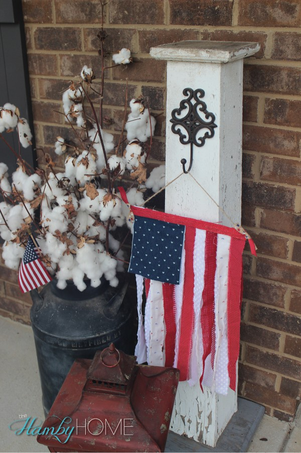 Patriotic porch decor the hamby home for Patriotic home decorations