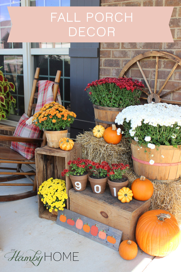 Fall Porch Decor The Hamby Home