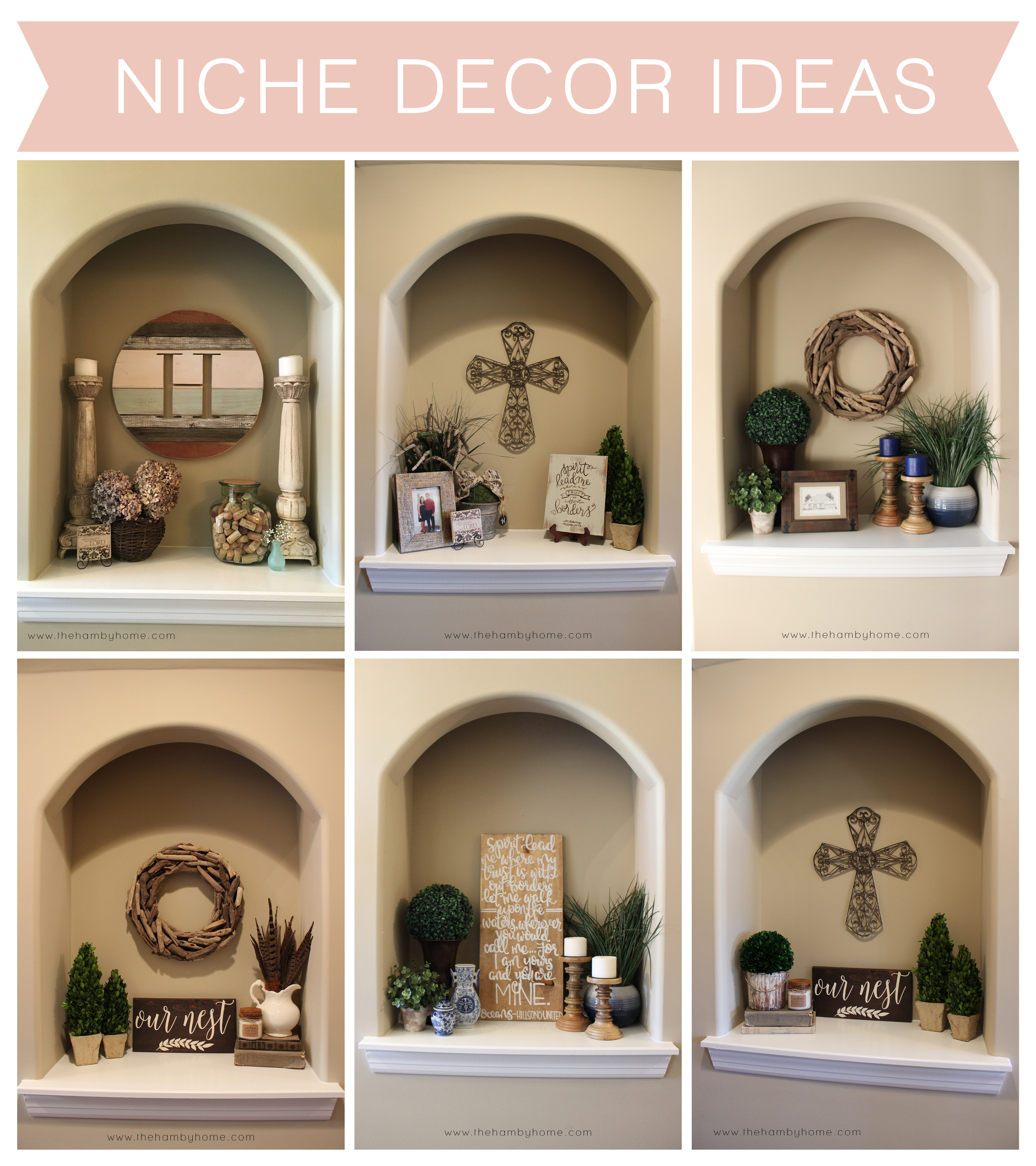 Niche decor ideas the hamby home for For the home decor