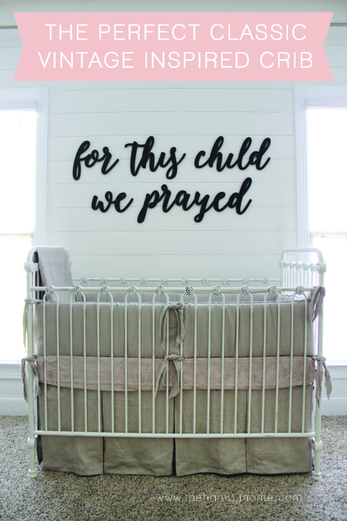 The perfect classic vintage inspired crib the hamby home - Vintage antique baby room ideas timeless charm appeal ...